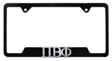 Pi Beta Phi Sorority Black Open License Plate Frame