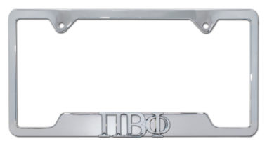 Pi Beta Phi Sorority Chrome Open License Plate Frame