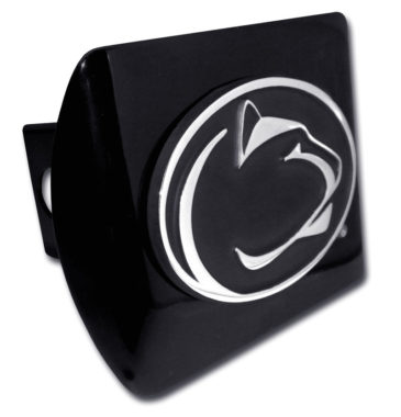 Penn State Black Emblem on Black Hitch Cover