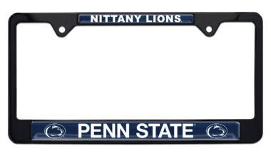 Penn State Nittany Lions Black License Plate Frame