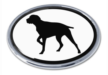 Pointer White Chrome Emblem