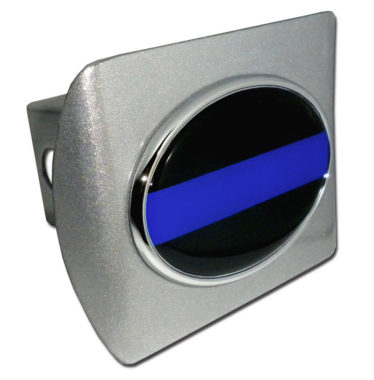 Police Emblem on Brushed Hitch Cover image