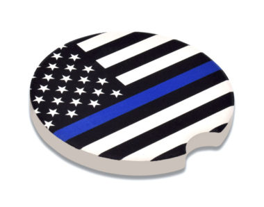 Police Flag Car Coaster - 2 Pack