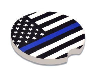 Police Flag Car Coaster - 2 Pack image