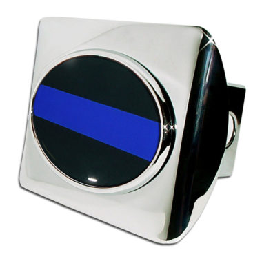 Police Emblem on Chrome Hitch Cover image