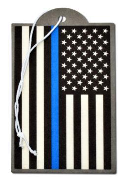 Police Flag Air Freshener 2 Pack