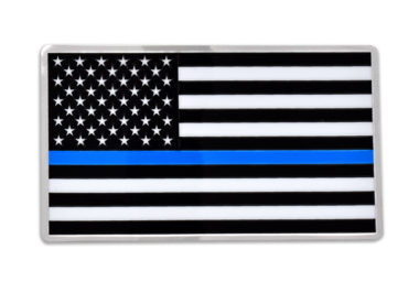 Premium Police Flag 3D Decal image