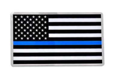 Premium Police Flag 3D Decal image