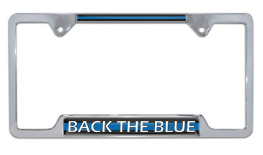Back the Blue Open License Plate Frame