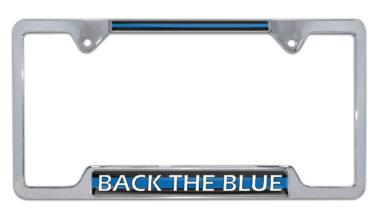 Back the Blue Open License Plate Frame image