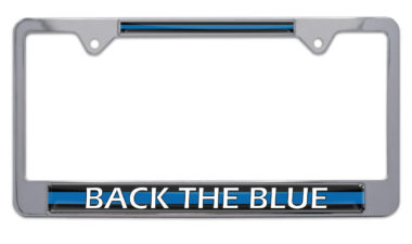 Police Back the Blue License Plate Frame image
