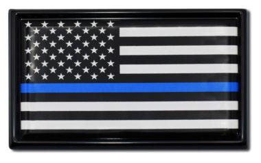 Police Flag Black Emblem