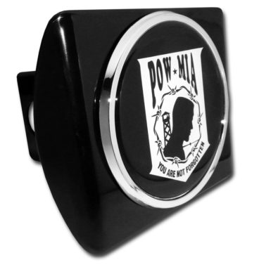 POW / MIA Emblem on Black Hitch Cover