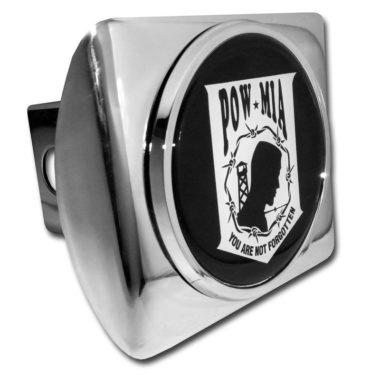 POW / MIA Emblem on Chrome Hitch Cover