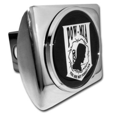 POW / MIA Emblem on Chrome Hitch Cover