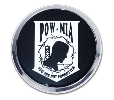 POW / MIA Chrome Emblem