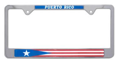 Puerto Rico Flag License Plate Frame