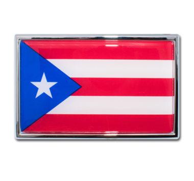Puerto Rico Flag Chrome Emblem