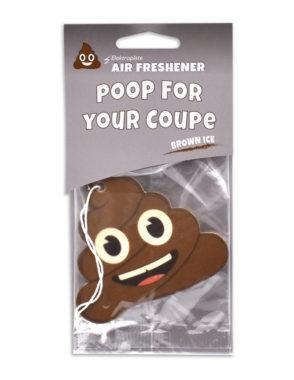 Brown Ice Poop Emoji Air Freshener 2 Pack