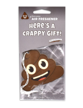 Cinnamon Poop Emoji Air Freshener 2 Pack image