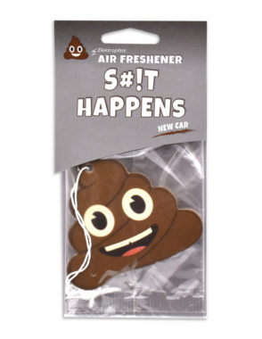 New Car Poop Emoji Air Freshener 6 Pack