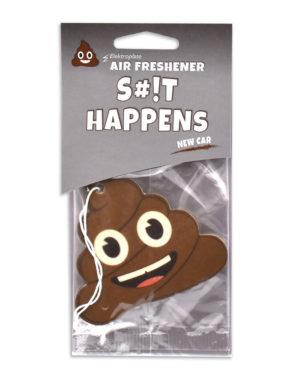 New Car Poop Emoji Air Freshener 6 Pack