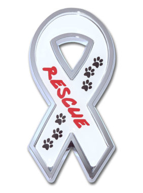 Rescue Ribbon Chrome Emblem