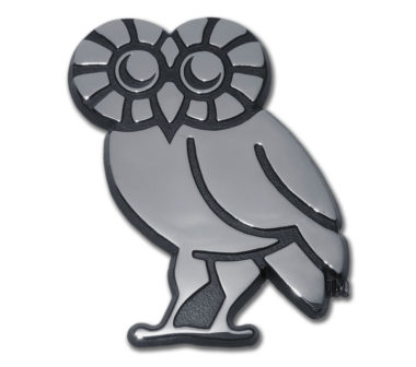 Rice University Owl Chrome Emblem
