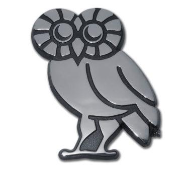 Rice University Owl Chrome Emblem
