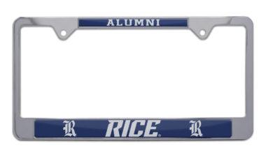 Rice Alumni License Plate Frame