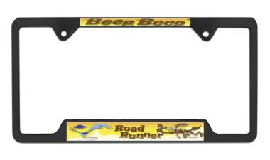 Road Runner Open Black License Plate Frame