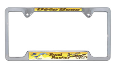 Road Runner Open Chrome License Plate Frame