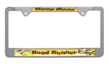 Road Runner Chrome License Plate Frame