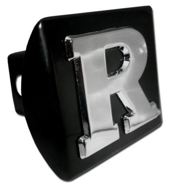 Rutgers University Emblem on Black Hitch Cover
