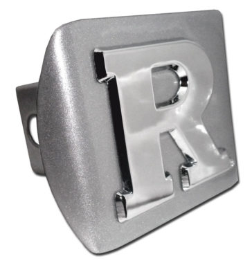 Rutgers University on Brushed Hitch Cover