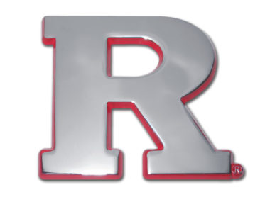 Rutgers University Red Chrome Emblem