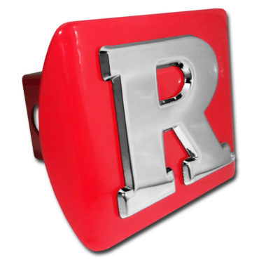 Rutgers University Emblem on Red Hitch Cover