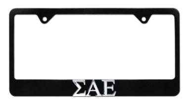 Sigma Alpha Epsilon Black License Plate Frame