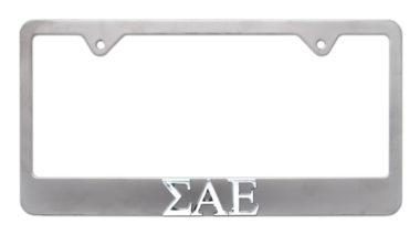 Sigma Alpha Epsilon Matte License Plate Frame image