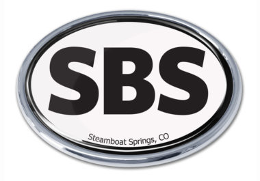 Steamboat Springs White Chrome Emblem