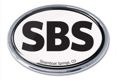 Steamboat Springs White Chrome Emblem