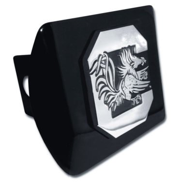 South Carolina University Gamecock Emblem on Black Hitch Cover
