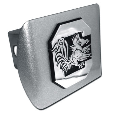 South Carolina University Gamecock Emblem on Brushed Hitch Cover
