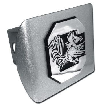 South Carolina University Gamecock Emblem on Brushed Hitch Cover
