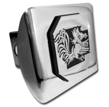 South Carolina University Gamecock Emblem on Chrome Hitch Cover image