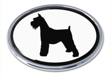 Schnauzer White Chrome Emblem
