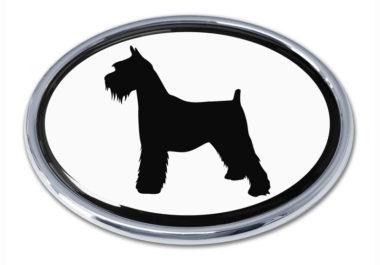 Schnauzer White Chrome Emblem