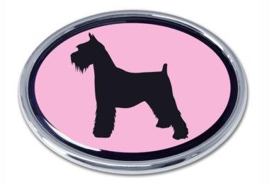 Schnauzer Pink Chrome Emblem