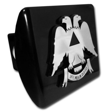 Scottish Rite Emblem on Black Metal Hitch Cover image