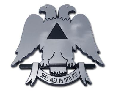 Scottish Rite Chrome Emblem